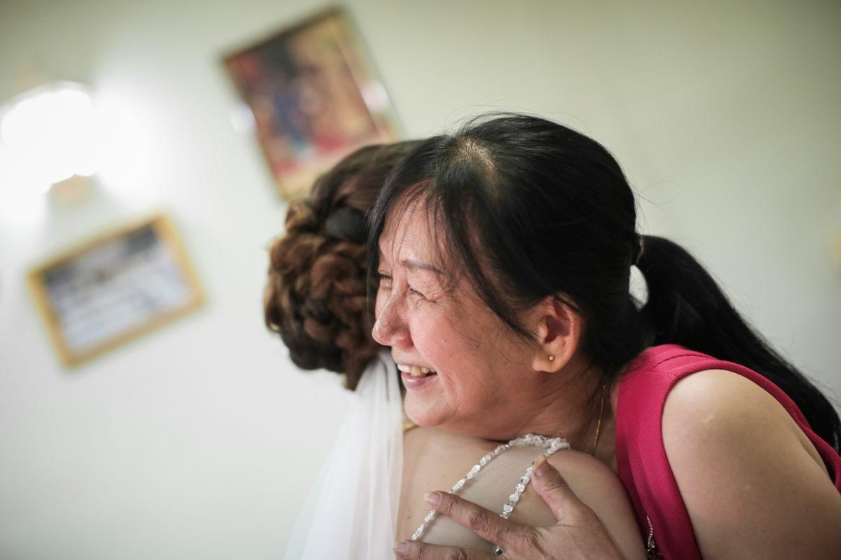 During wedding ceremony - Jamie